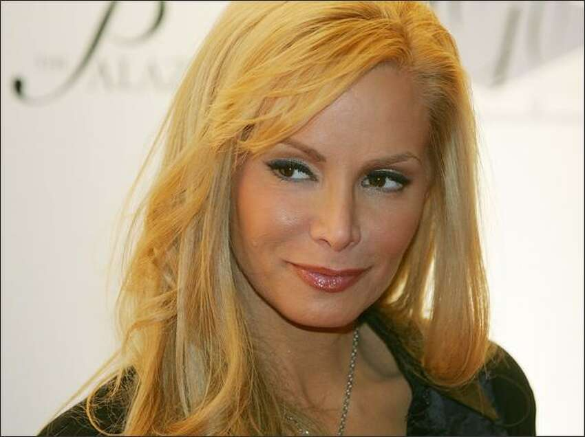 Model Cindy Margolis arrives at the opening of Jay-Z's 40/40 Club.