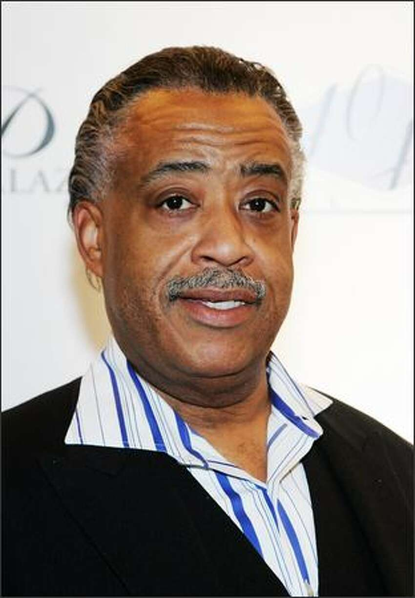 The Rev. Al Sharpton arrives at the opening of Jay-Z's 40/40 Club.