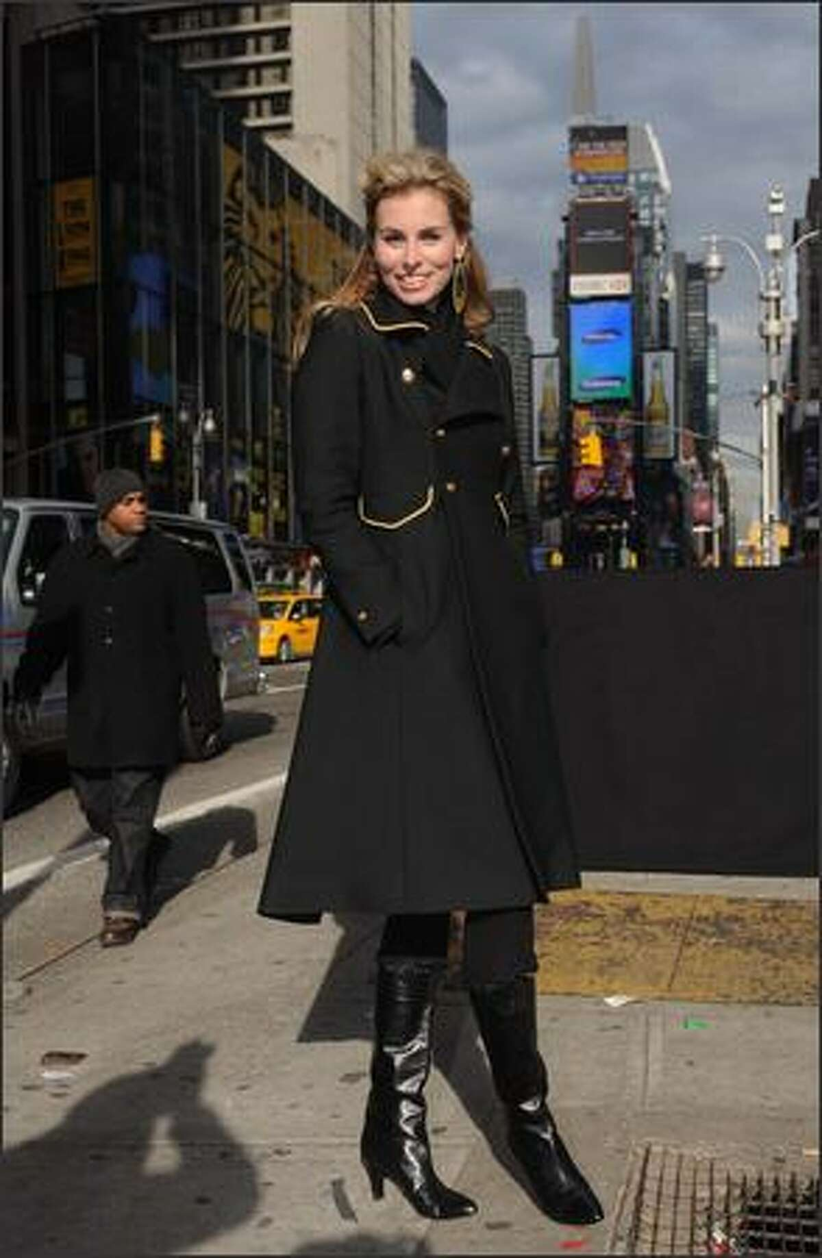 Model Niki Taylor attends a taping of Bravo's new series 'Make Me A Supermodel' in Times Square on Friday in New York City.
