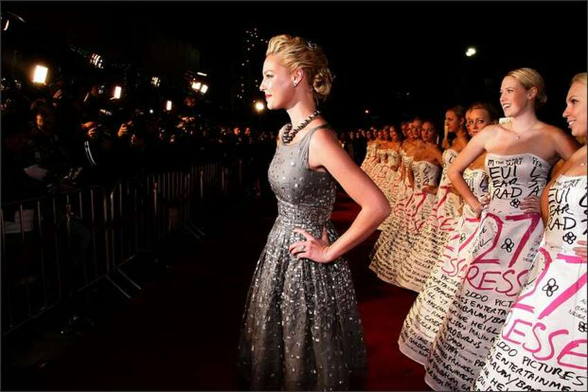 Actress Katherine Heigl arrives at the premiere of 20th Century Fox's