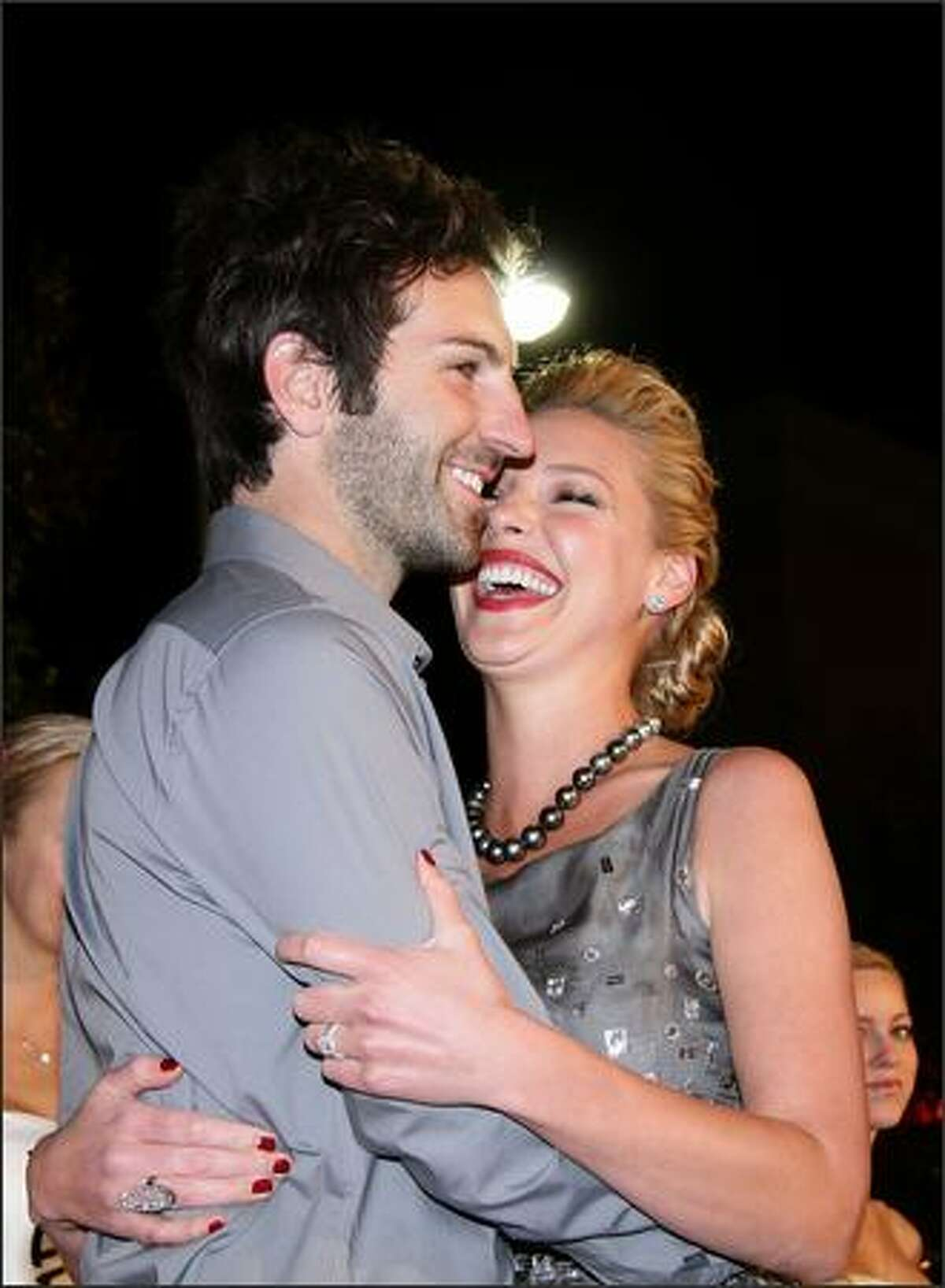 Actress Katherine Heigl and husband Josh Kelley arrive at the premiere of 20th Century Fox's