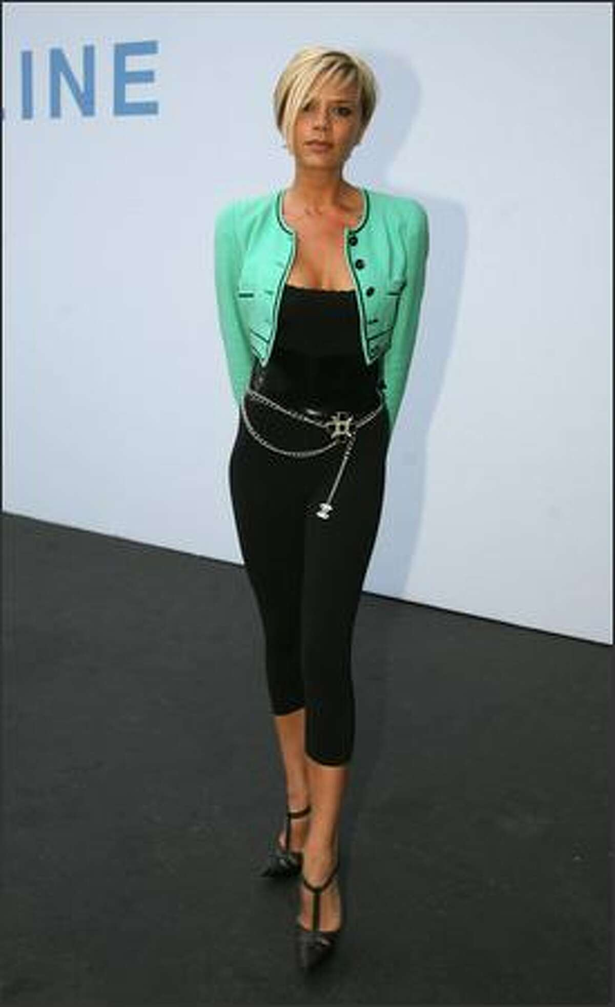 Victoria Beckham, wife of British soccer star David Beckham arrives at the 2007/08 Chanel Cruise Show presented by Karl Lagerfeld at Santa Monica airport, California. She is on top of Mr. Blackwell's 48th annual worst-dressed list.