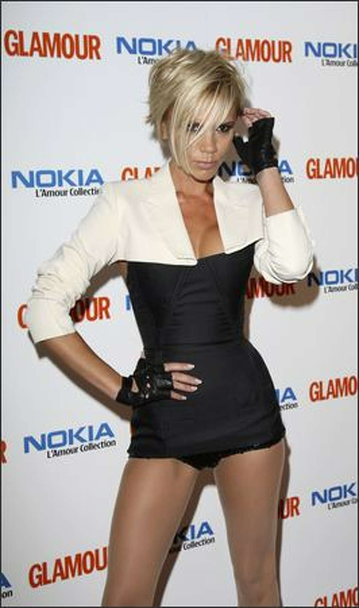 Victoria Beckham arrives at the Glamour Women Of The Year Awards, the annual awards recognising the achievement of women with categories including UK TV Actress, Solo Artist, Fashion Designer and Woman Of The Year, at Berkeley Square on June 5, 2007 in London, England. She is on top of Mr. Blackwell's 48th annual worst-dressed list.
