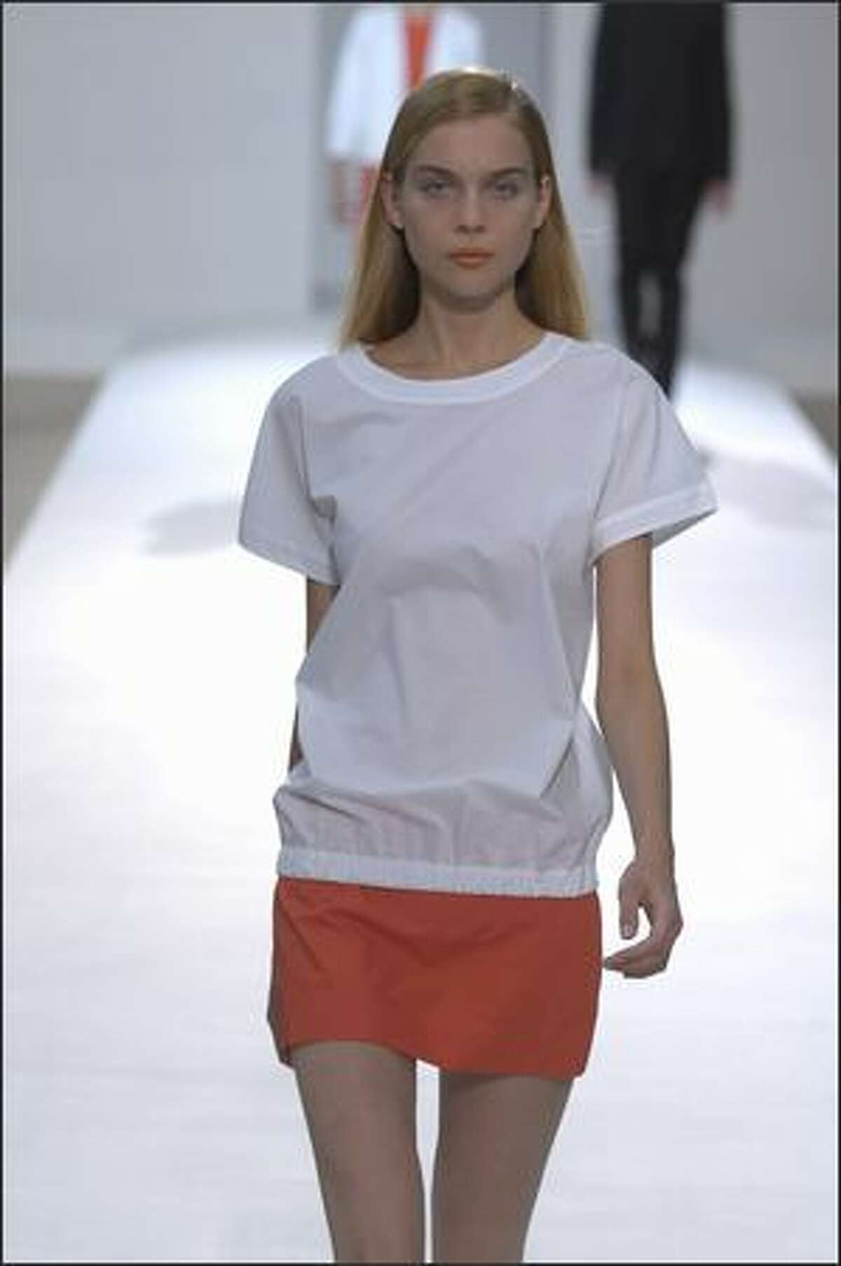 A model displays new clothing from H&M's Spring/Summer 2008 collection. (Chris Moore/H&M)