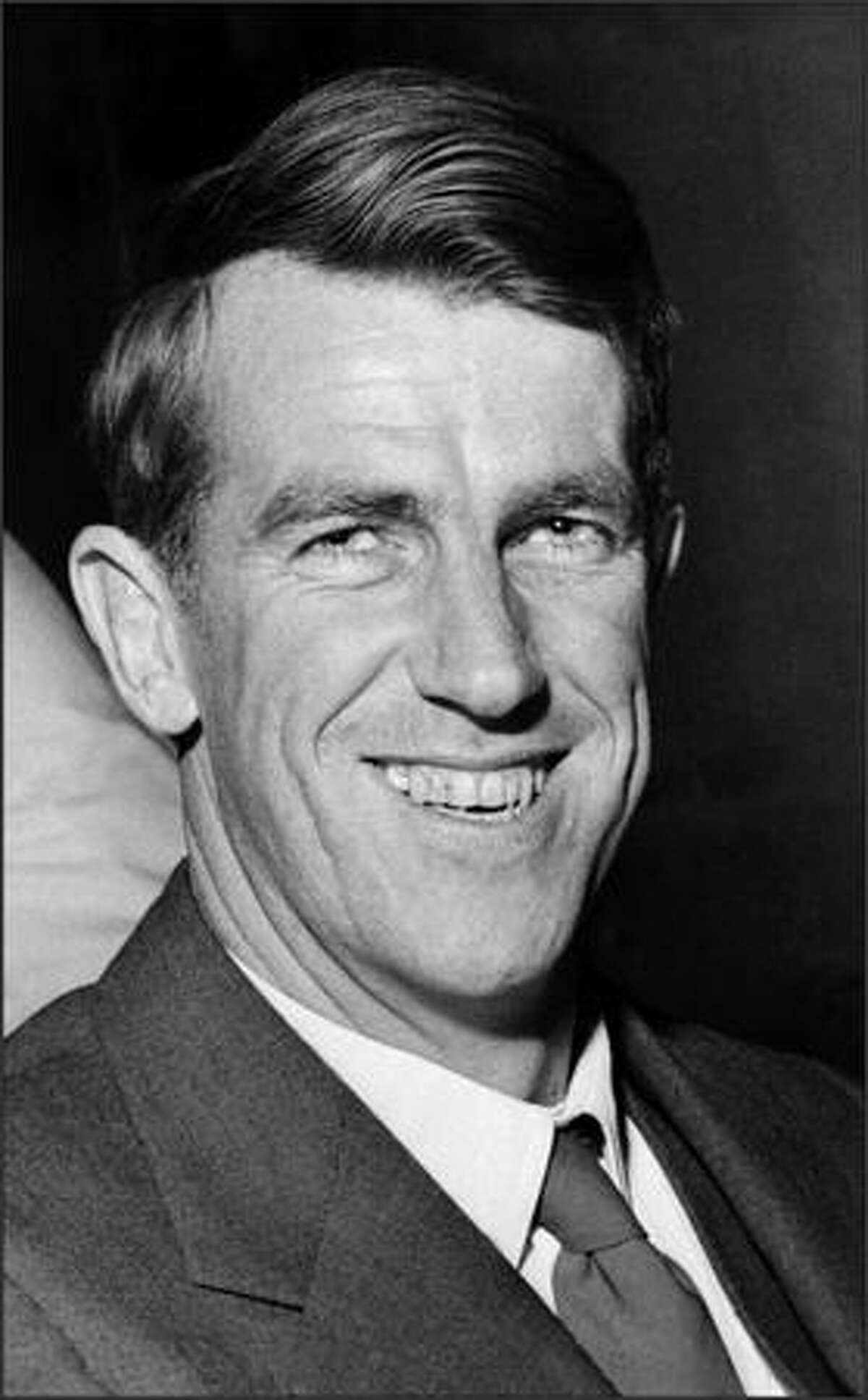 Undated and unlocated portrait of Sir Edmund Hillary.