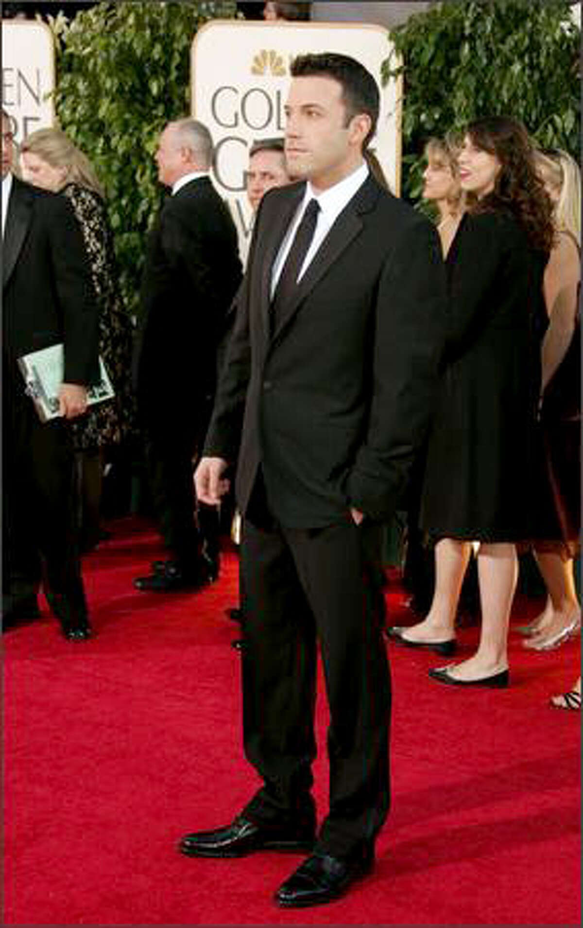 Actor Ben Affleck arrives at the 64th Annual Golden Globe Awards at the Beverly Hilton on Jan. 15, 2007 in Beverly Hills, Calif. This year's event was deflated from star-studded revelry to dry, news conference-style awards announcement Sunday night because of the Hollywood writers strike. In its absence, please enjoy these scenes from last year's red carpet.