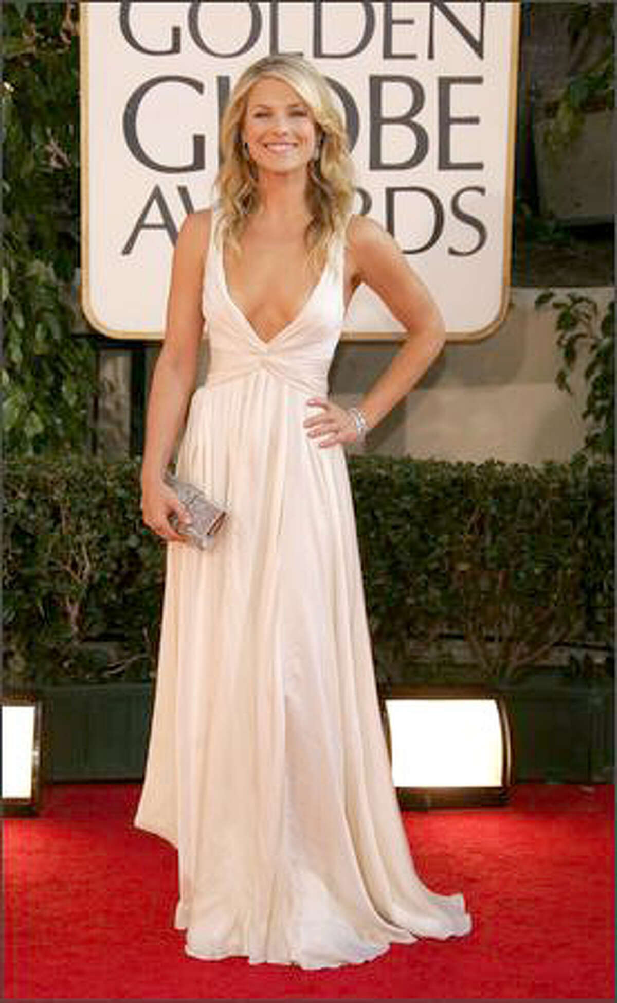 Actress Ali Larter arrives at the 64th Annual Golden Globe Awards on Jan. 15, 2007.