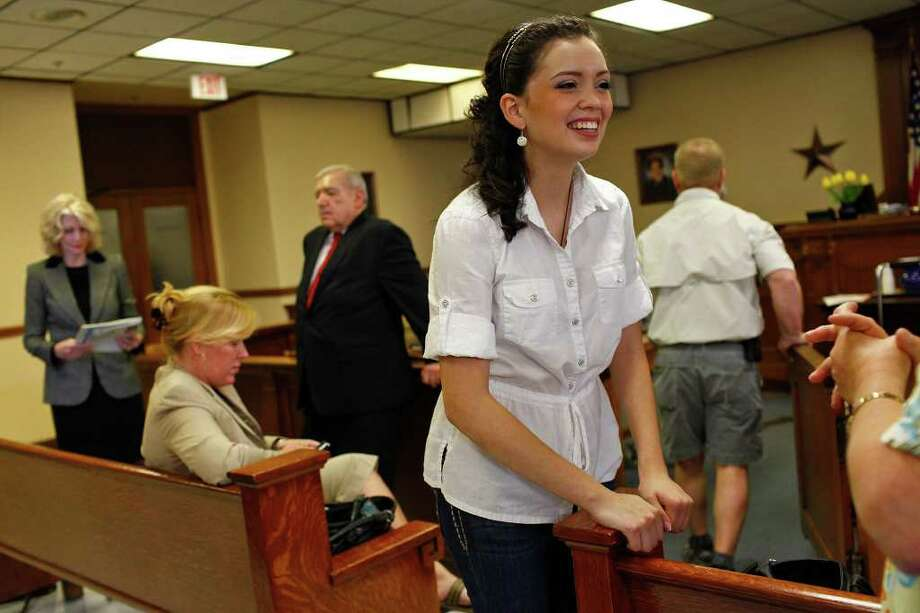 """This is not only about Domonique"" Ramirez (left), her attorney told the jury in his closing argument. ""This is about every young girl's dream."" Photo: Lisa Krantz/Express-News / SAN ANTONIO EXPRESS-NEWS"