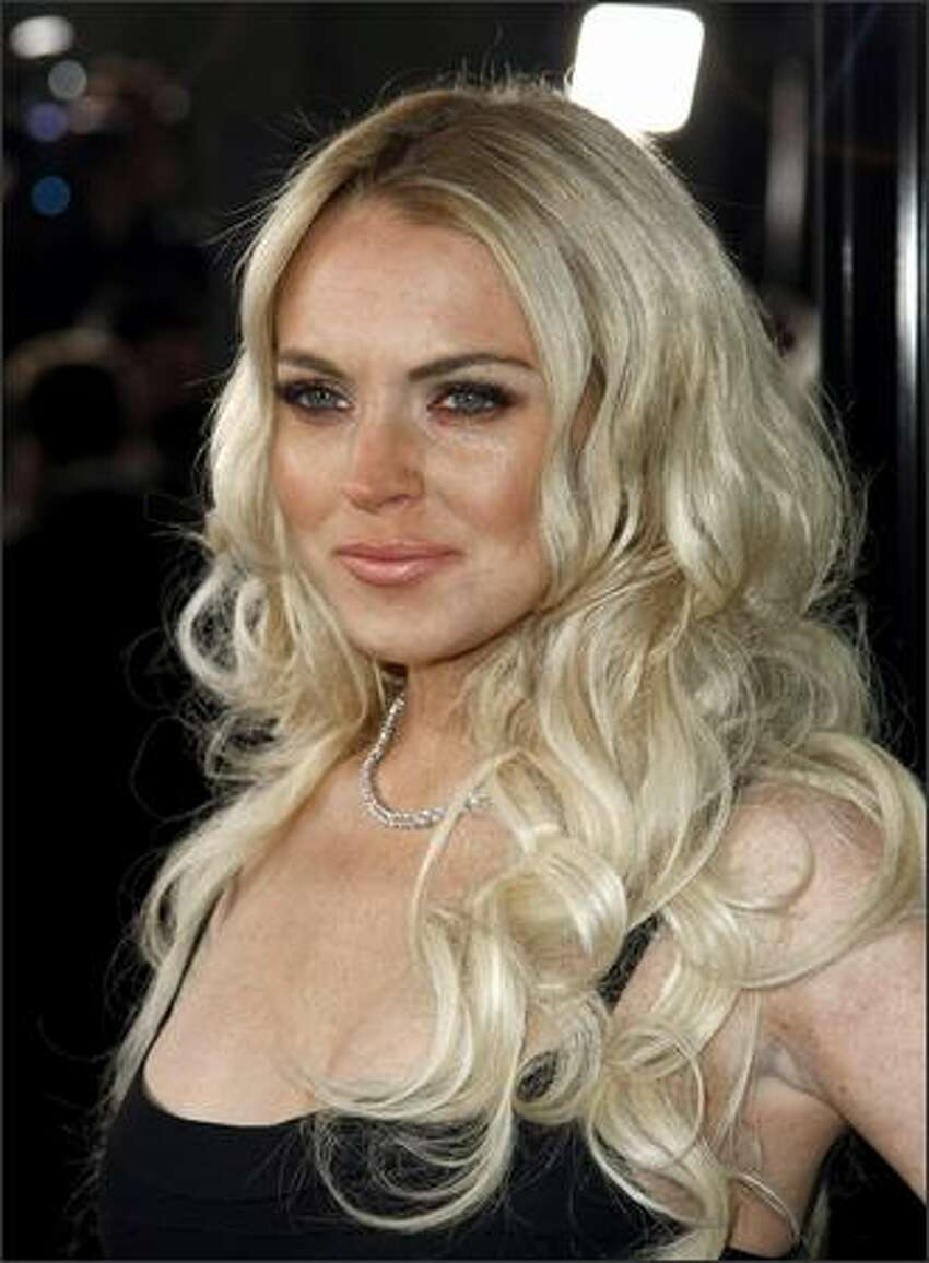 Actress Lindsay Lohan arrives.