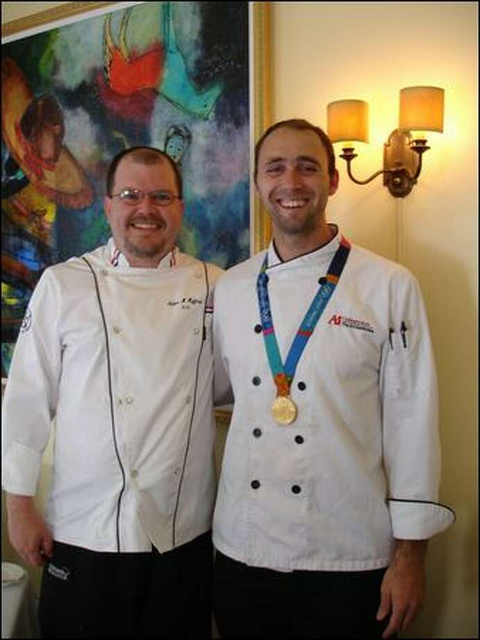 Rover's chef de cuisine Adam Hoffman, left, is a friend and kitchen mentor to Olympic rower Bryan Volpenhein Photo: Photo Courtesy Adam Hoffman
