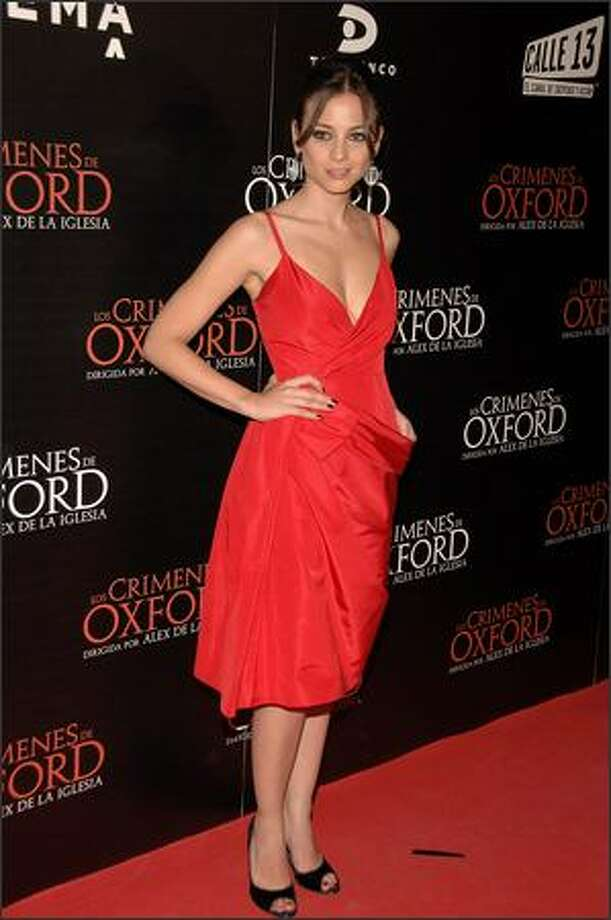 "Spanish actress Leonor Watling attends the premiere of ""The Oxford Murders"" on Thursday at the Palacio de la Musica cinema in Madrid, Spain. Photo: Getty Images"