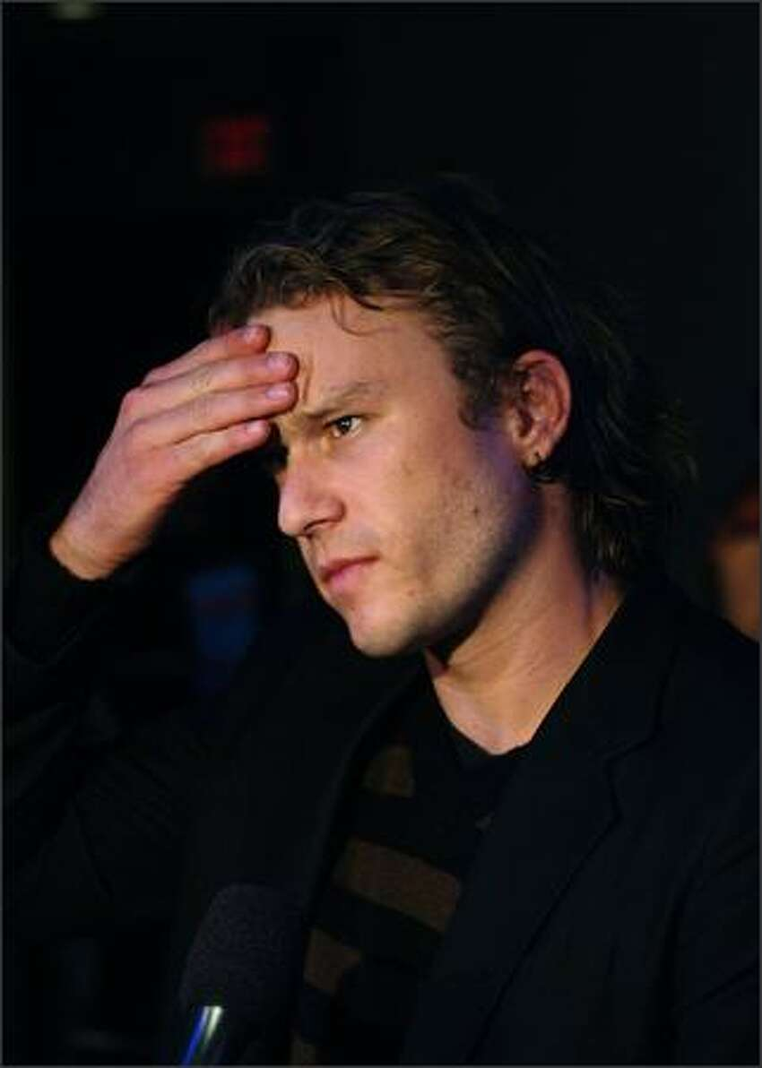 Actor Heath Ledger attends the Toronto International Film Festival premiere screening of