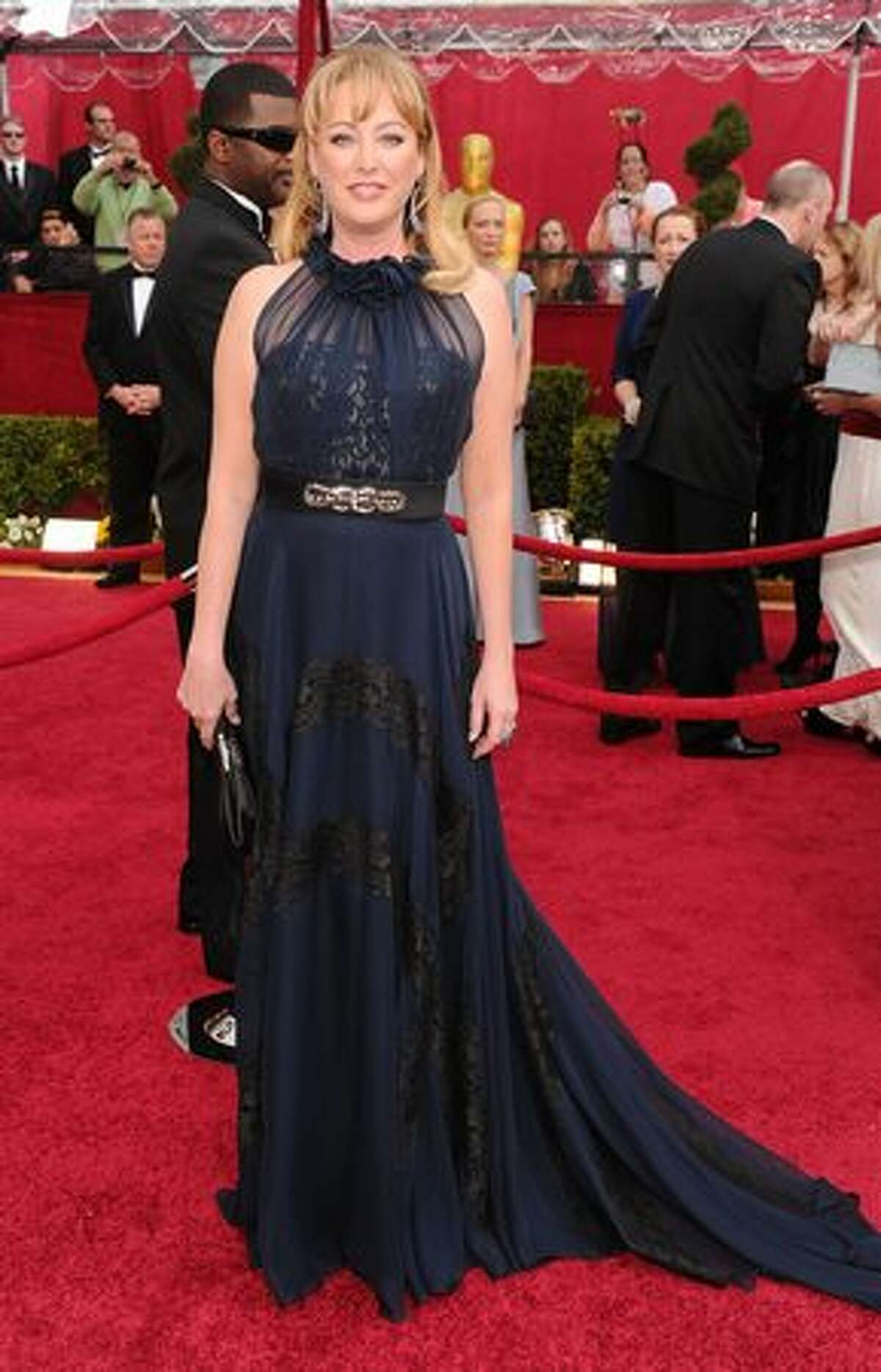 Actress Virginia Madsen arrives at the 82nd Annual Academy Awards held at Kodak Theatre in Hollywood, California.