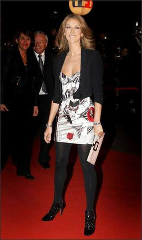 Singer Celine Dion attends the 2008 NRJ Music Awards held at the Palais des Festivals in Cannes, France. The awards, sponsored by French radio station NRJ, are given to top musical performances in French and international categories. Photo: Getty Images