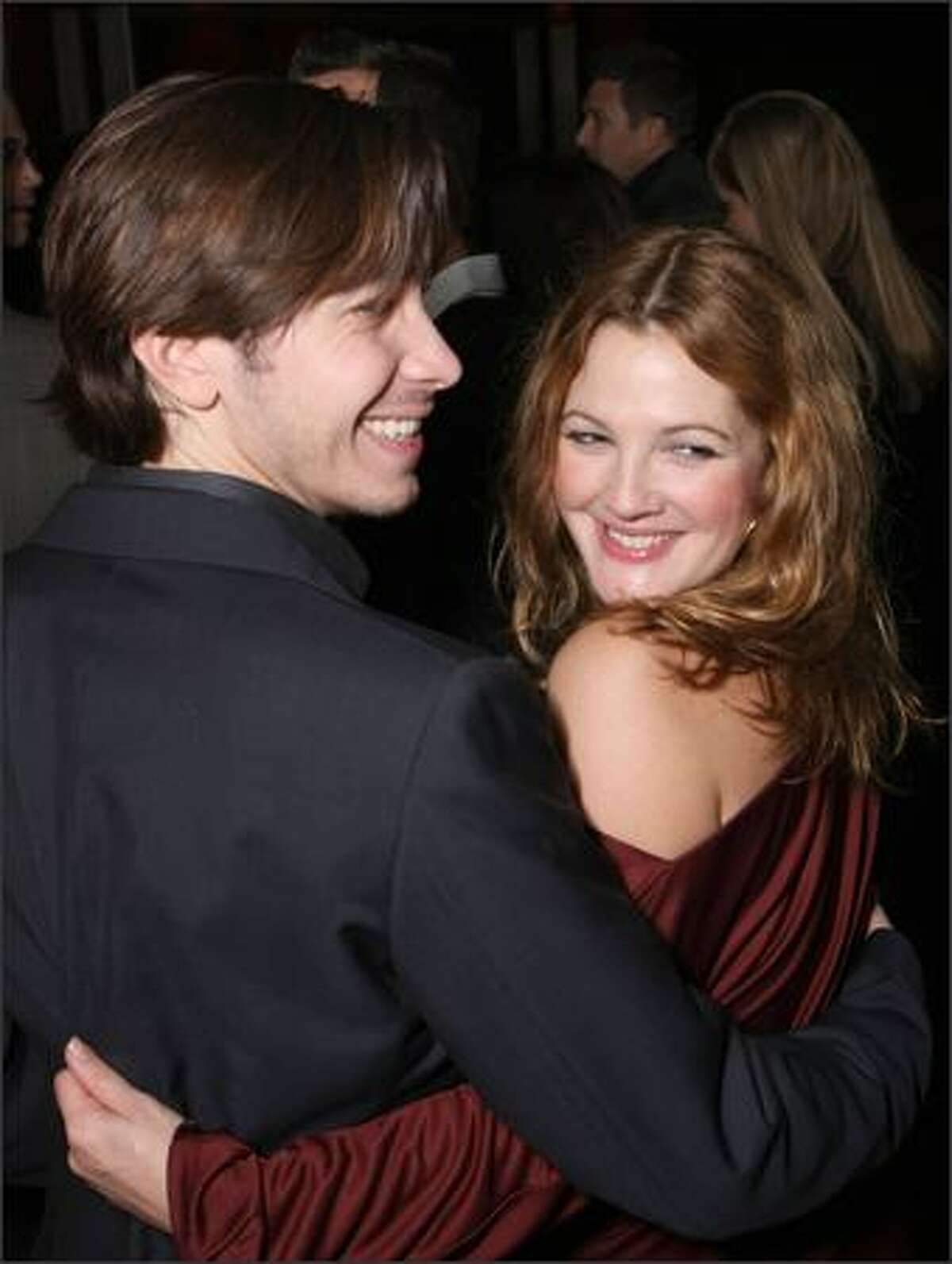Actor Justin Long and actress Drew Barrymore arrive at Picture House's premiere of
