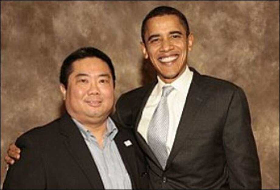 Dean Ando meets with Barack Obama last year. Photo: Courtesy Dean Ando