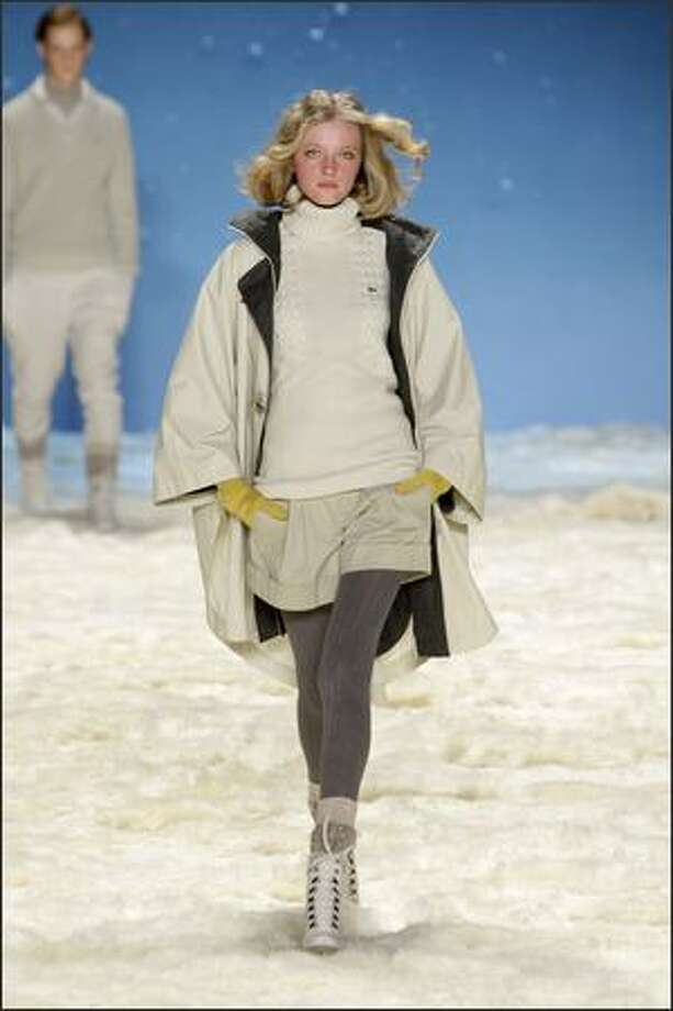 A model walks the runway at the Lacoste fall 2008 fashion show during Mercedes-Benz Fashion Week at The Tent at Bryant Park in New York. Photo: Getty Images