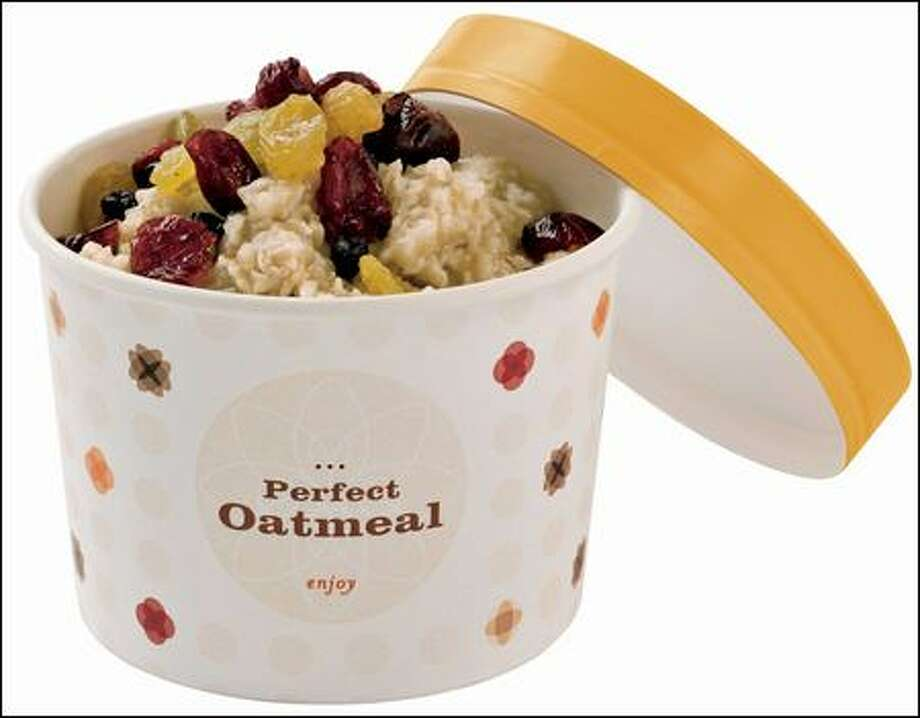 Hot oatmeal is one of Starbucks' new breakfast options.