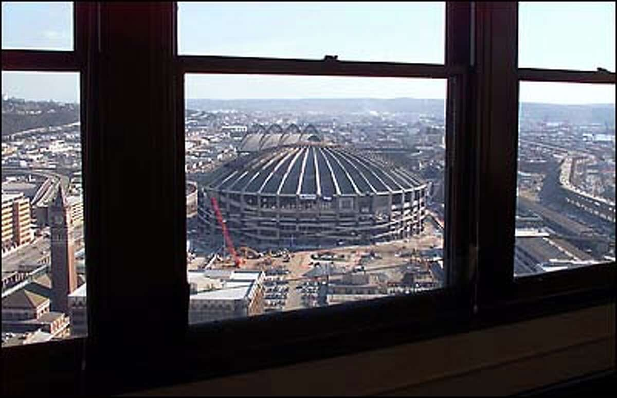 The Dome can be seen clearly from the 32nd floor of the historic Smith Tower in Pioneer Square.