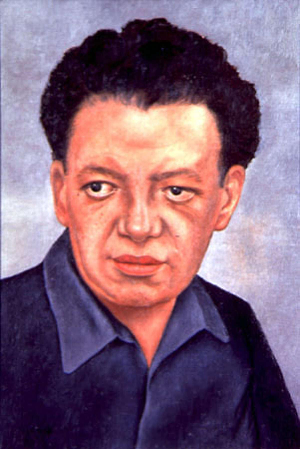 """""""Portrait of Diego Rivera"""" (Retrato de Diego Rivera), 1937. Frida Kahlo, Mexican, 1907-1954. Oil on masonite, 53 x 39 cm. Courtesy of the Vergel Foundation, New York. © 2002 Banco de Mexico, Diego Rivera & Frida Kahlo Museum Trust"""