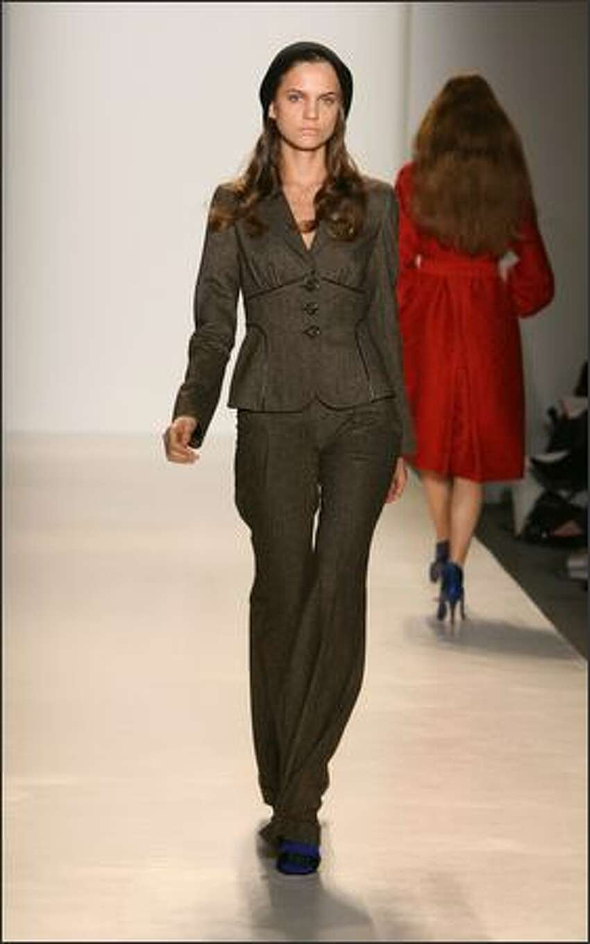 A model walks the runway at the Cynthia Steffe fall 2008 fashion show during Mercedes-Benz Fashion Week at The Salon at Bryant Park in New York.
