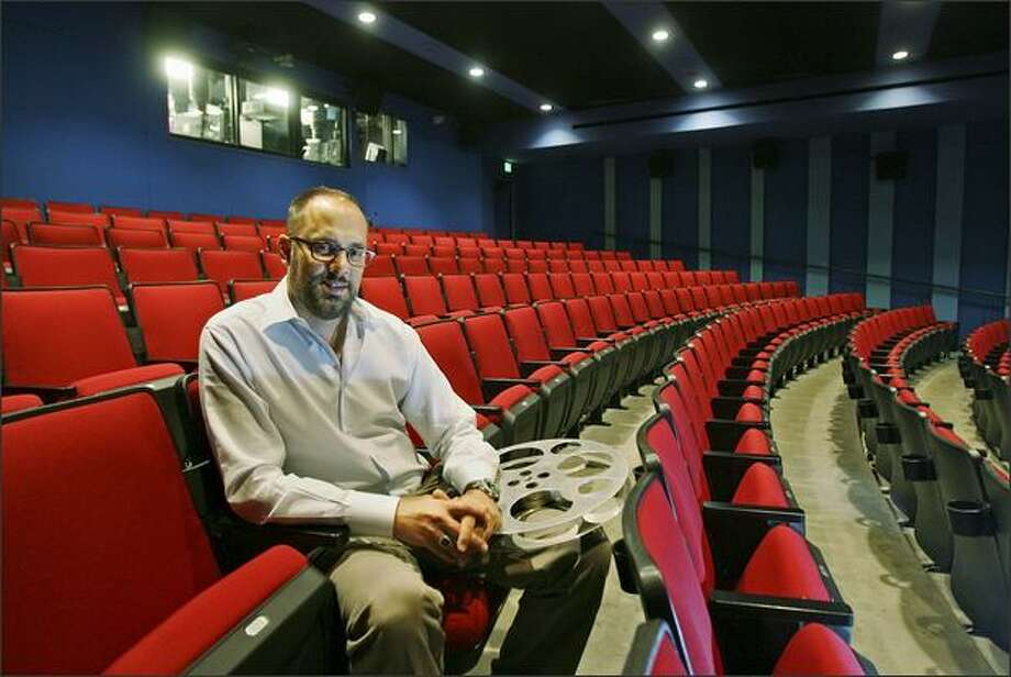 Carl Spence, artistic director for Seattle International Film Festival, in the SIFF Cinema at McCaw Hall in Seattle. Photo: Dan DeLong/Seattle Post-Intelligencer