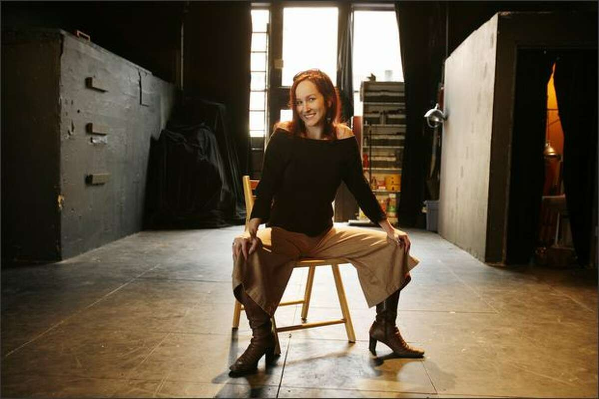 Katjana Vadeboncoeur, co-artistic director of Washington Ensemble Theater, photographed on the stage at WET.