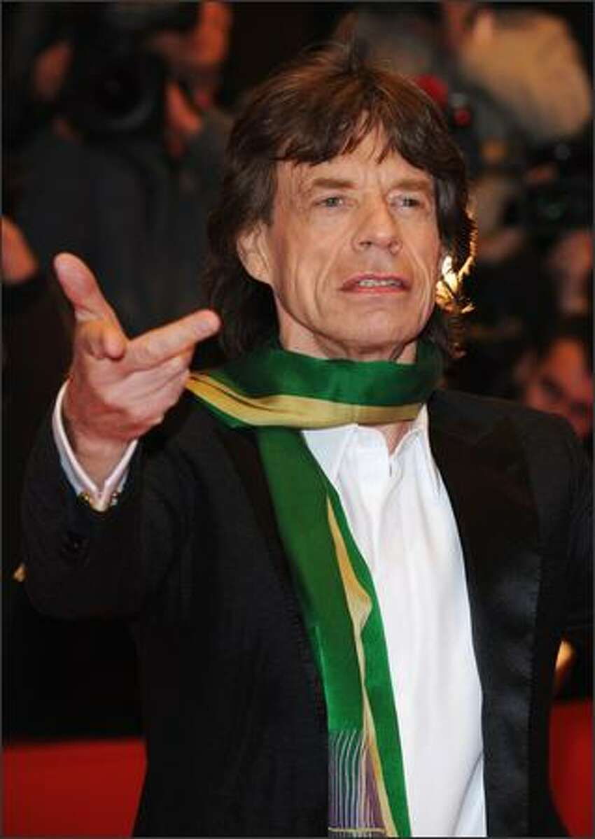 Rolling Stones singer Mick Jagger attends the 'Shine A Light' Premiere as part of the 58th Berlinale Film Festival at the Berlinale Palast on Thursday in Berlin, Germany.