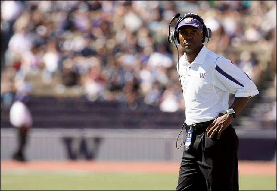 Tyrone Willingham has little left to draw from in his first recruiting UW class in 2005. Photo: Otto Greule Jr./Getty Images