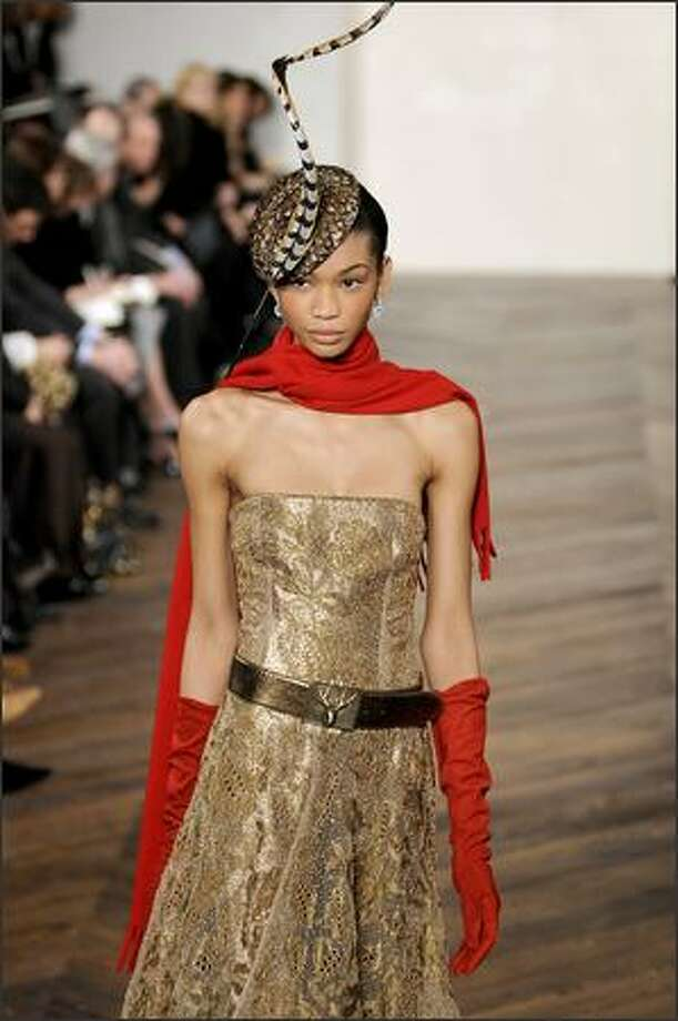 A model walks the runway at the Ralph Lauren Fall 2008 fashion show during Mercedes-Benz Fashion Week Fall 2008 at Skylight Studios in New York City. Photo: Getty Images