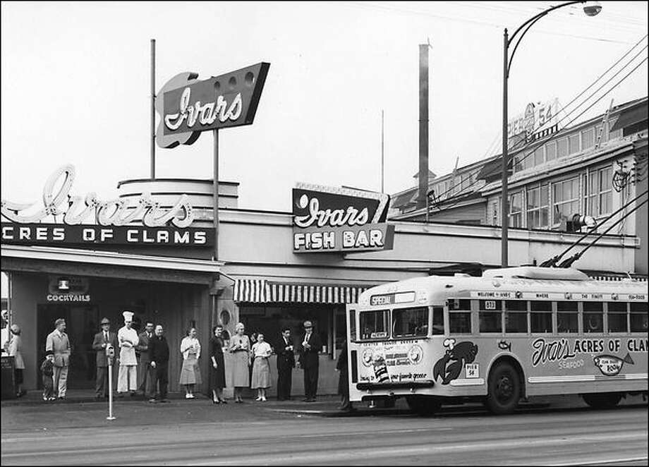Ivar s Acres of Clams on the Seattle waterfront in 1950  Photo  Courtesy Of  Ivar sOn Dining  Ivar s turns 70  Bring on the meal deals   seattlepi com. Restaurants Downtown Seattle Waterfront. Home Design Ideas
