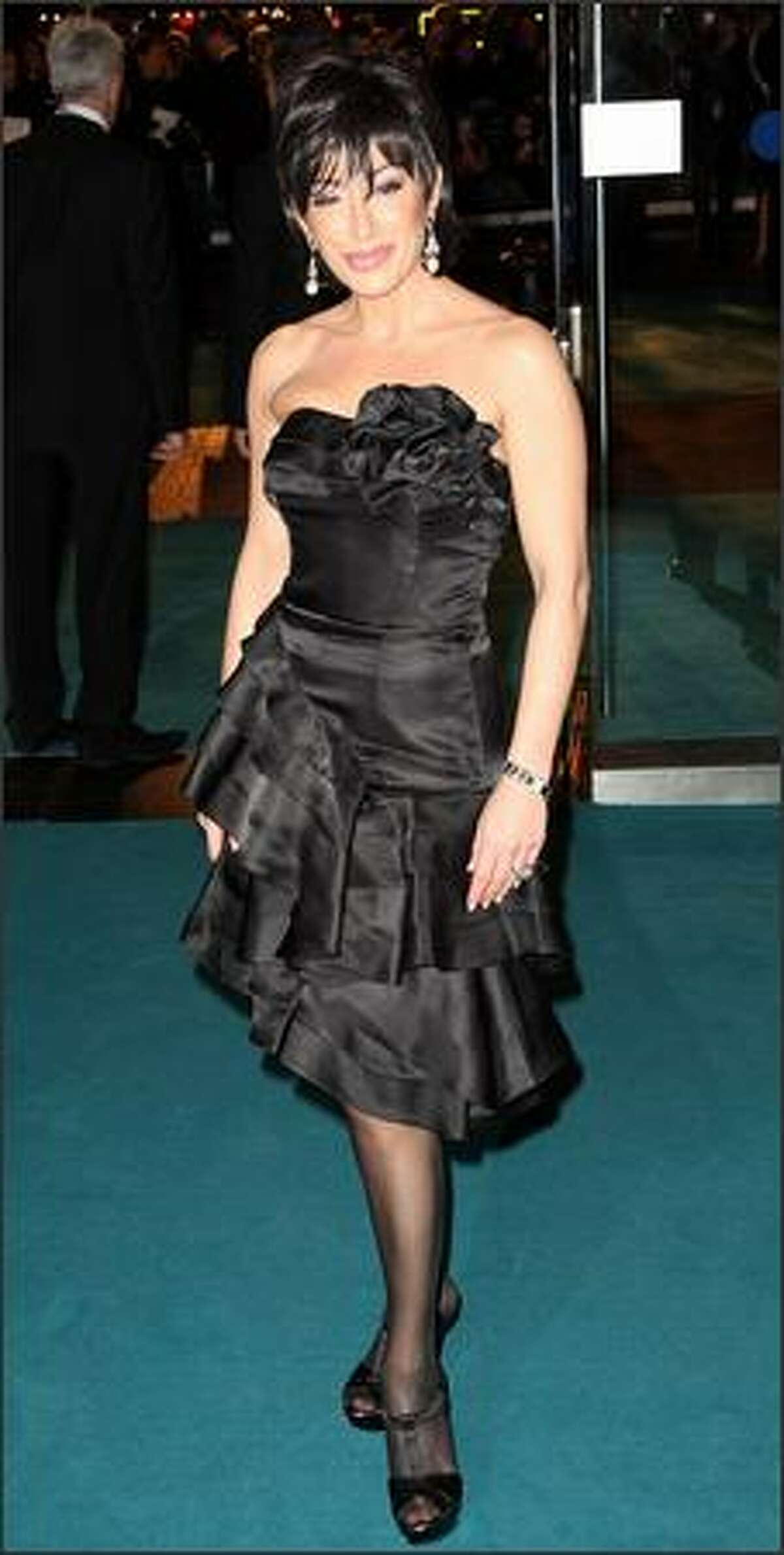 Nancy Dell'Olio arrives at the Royal Film premiere of