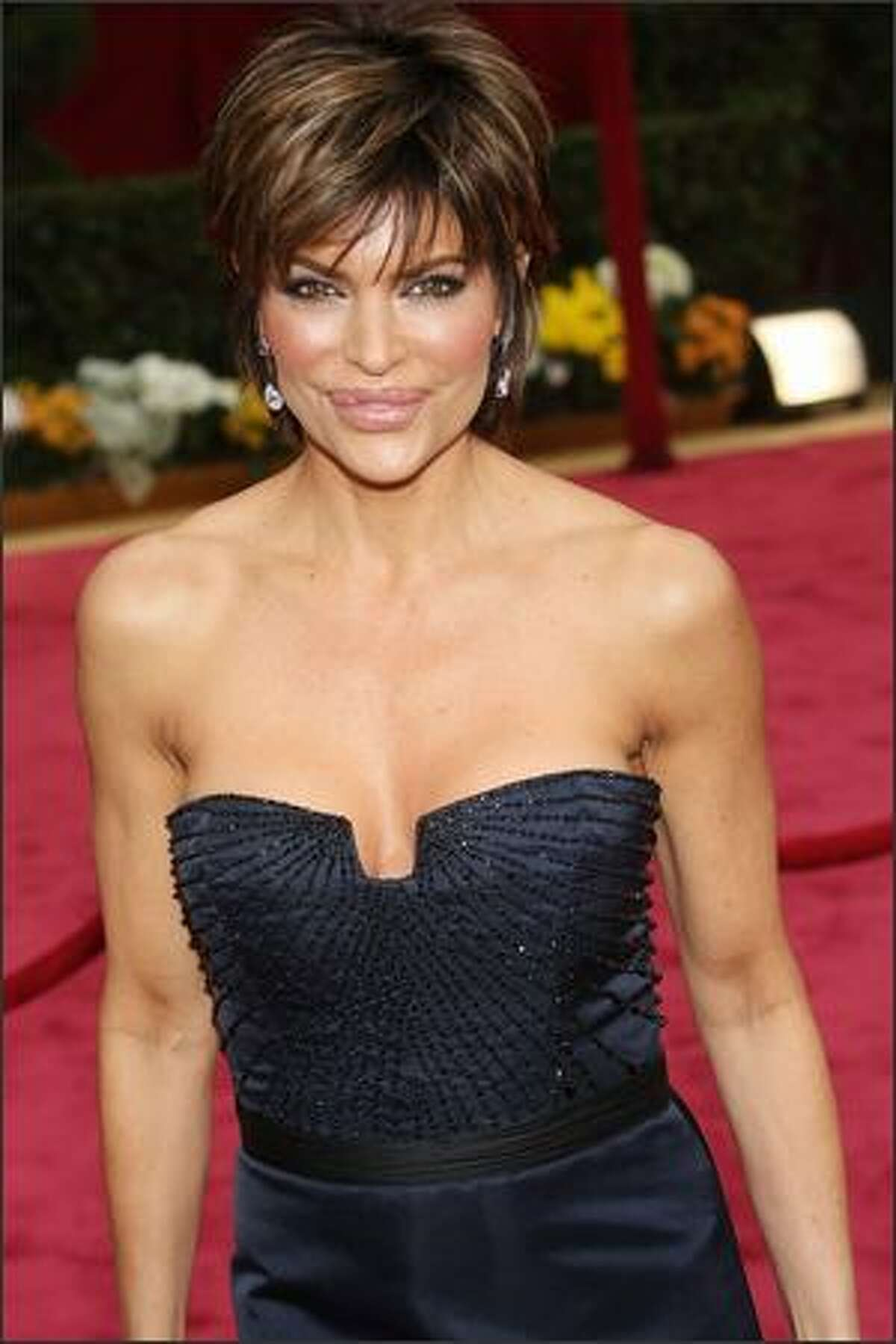 Actress Lisa Rinna arrives at the 80th Annual Academy Awards held at the Kodak Theatre in Hollywood, California.