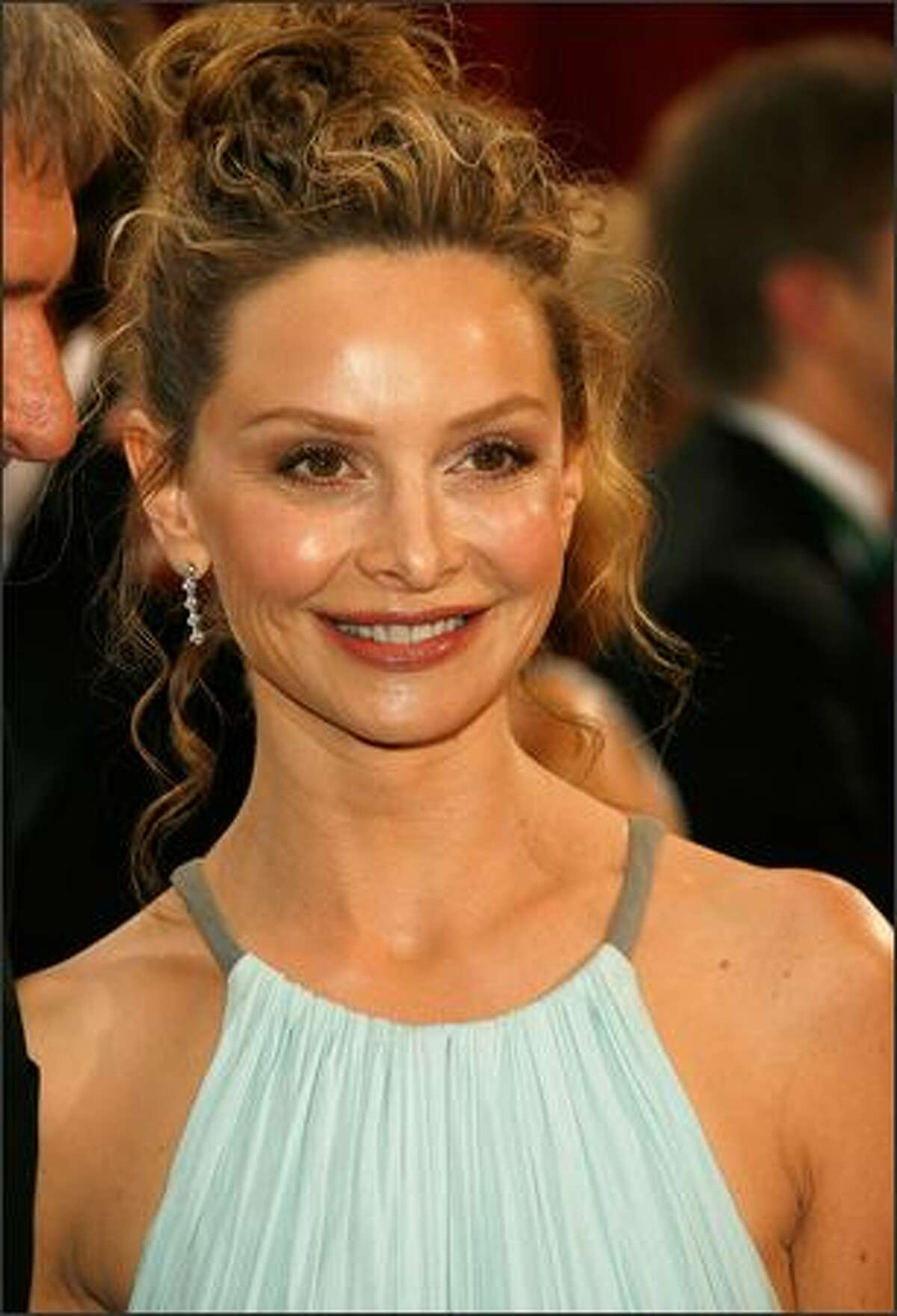 Actress Calista Flockhart arrives at the 80th Annual Academy Awards held at the Kodak Theatre in Hollywood, California.
