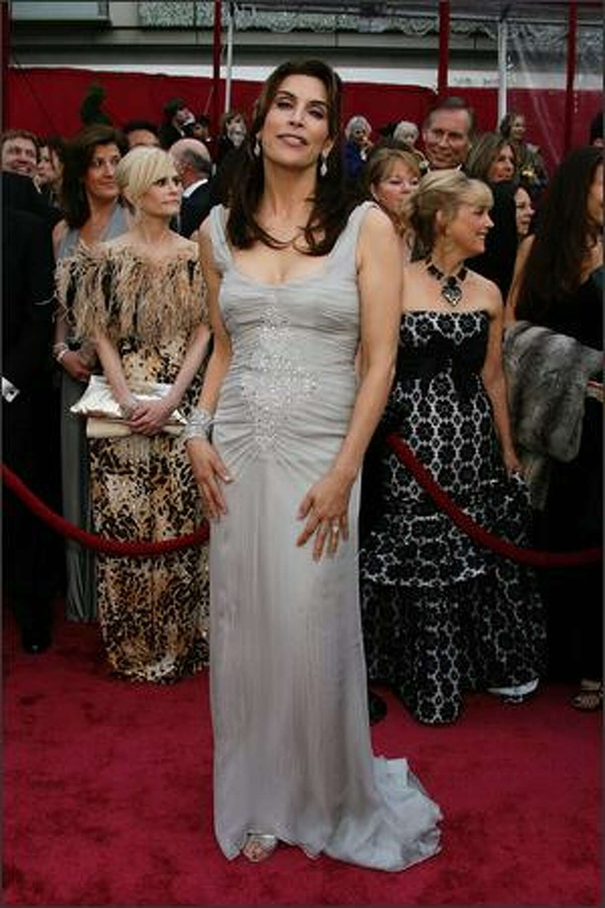 Actress Jo Champa arrives at the 80th Annual Academy Awards held at the Kodak Theatre in Hollywood, California.