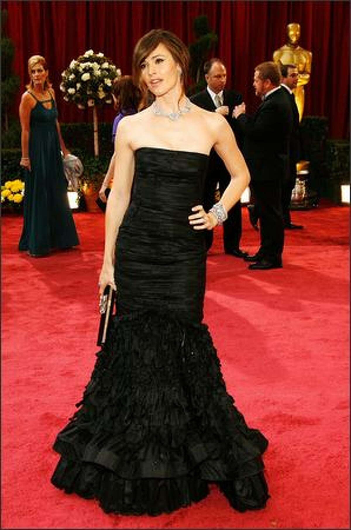 Actress Jennifer Garner arrives at the 80th Annual Academy Awards held at the Kodak Theatre in Hollywood, California.