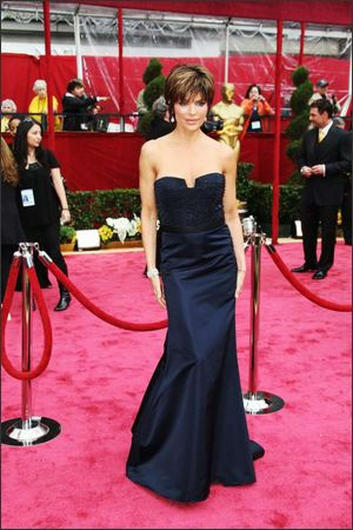 Actress Lisa Rinna arrives for the 80th Annual Academy Awards at the Kodak Theater in Hollywood, California.