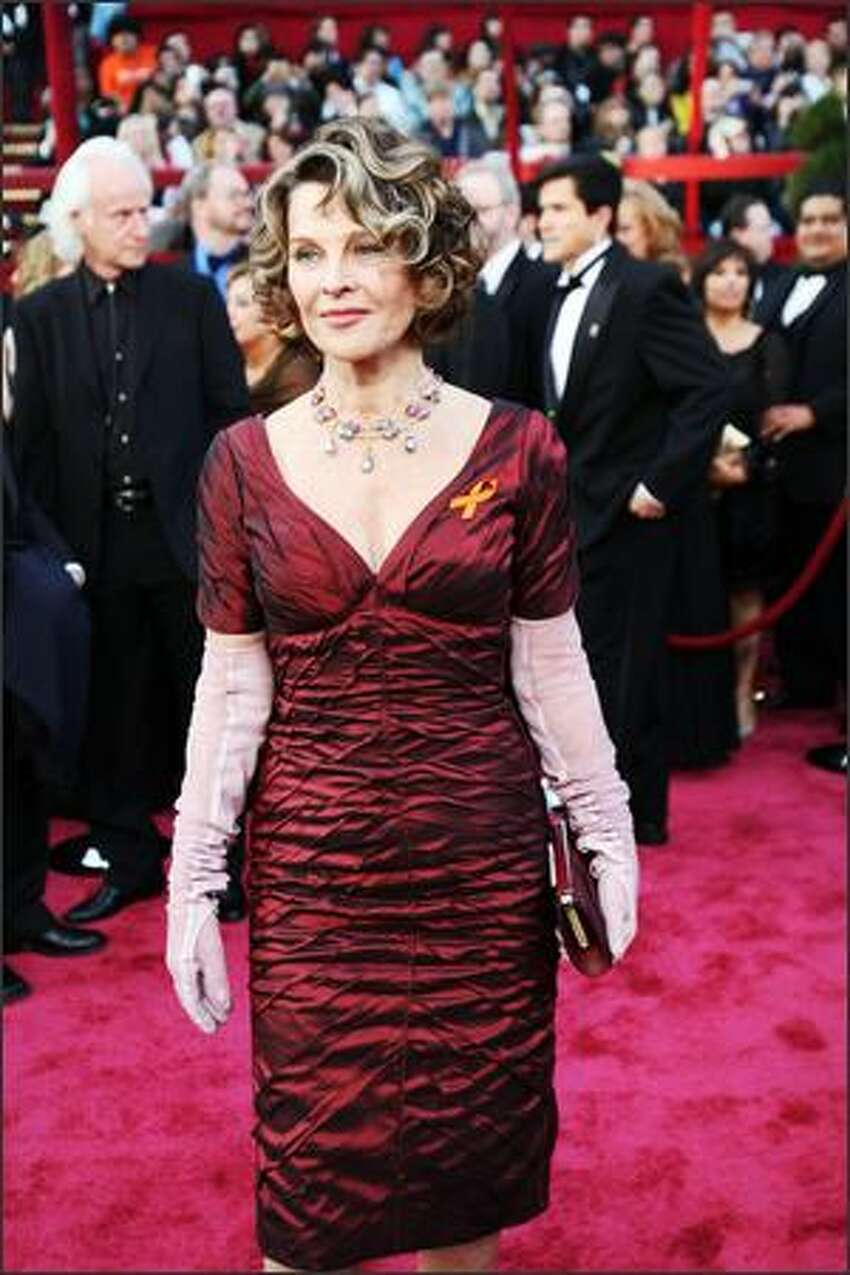 Julie Christie arrives for the 80th Annual Academy Awards at the Kodak Theater in Hollywood, California.