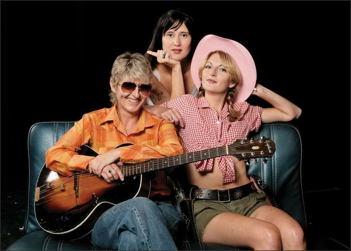 From left, Jo Miller as Dr. Robbins, Kate Czajkowski as big-thumbed Sissy Hankshaw and Hilary Pickles as Bonanza Jellybean.