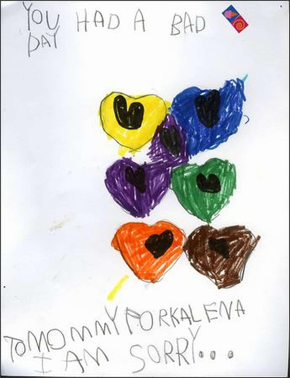 """You Had a Bad Day"" by Kalena DeLong, 5, daughter of P-I photographer Dan DeLong and reporter Vanessa Ho."