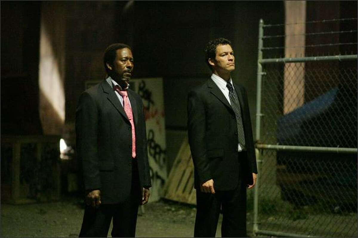 Clarke Peters and Dominic West in