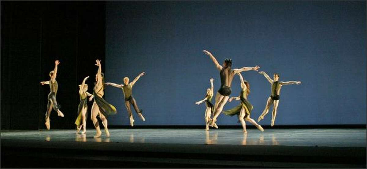 PNB dancers perform Paul Gibson's Sense of Doubt in the Pacific Northwest Ballet DIRECTOR'S CHOICE presentation at McCaw Hall. DIRECTOR'S CHOICE performances run March 13-22, 2008.