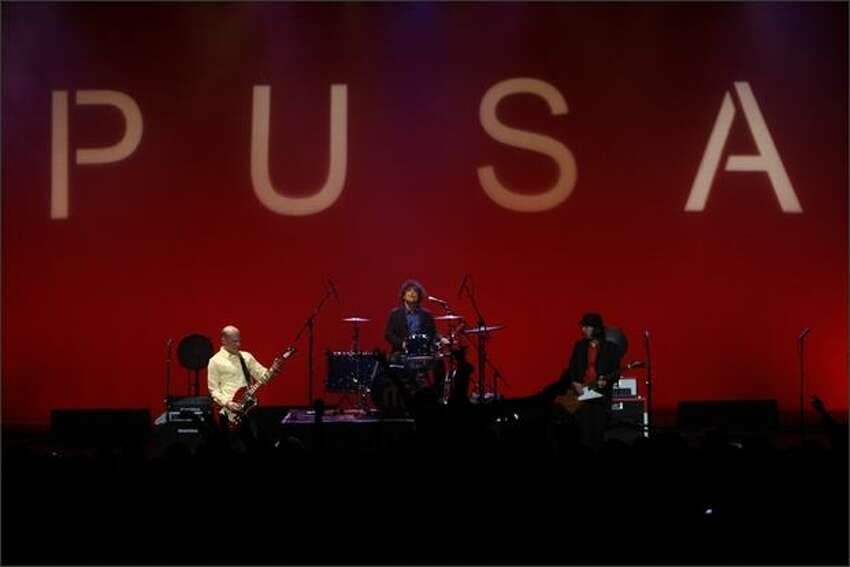 The Presidents of the United States of America -- from left: Chris Ballew, Jason Finn, Andrew McKeag and Jason Finn -- play the Paramount Theatre in Seattle.