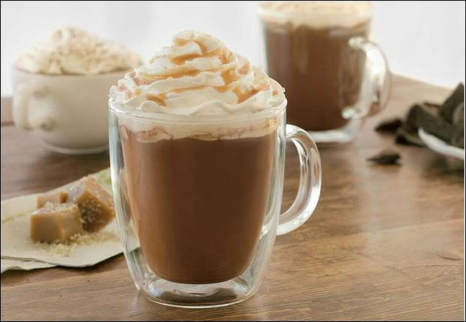 """Starbucks begins selling its """"signature hot chocolate"""" Tuesday in North American stores. The product already has been available for two years in Europe and Asia, capitalizing on the growing popularity of premium chocolate products. Photo: Starbucks"""