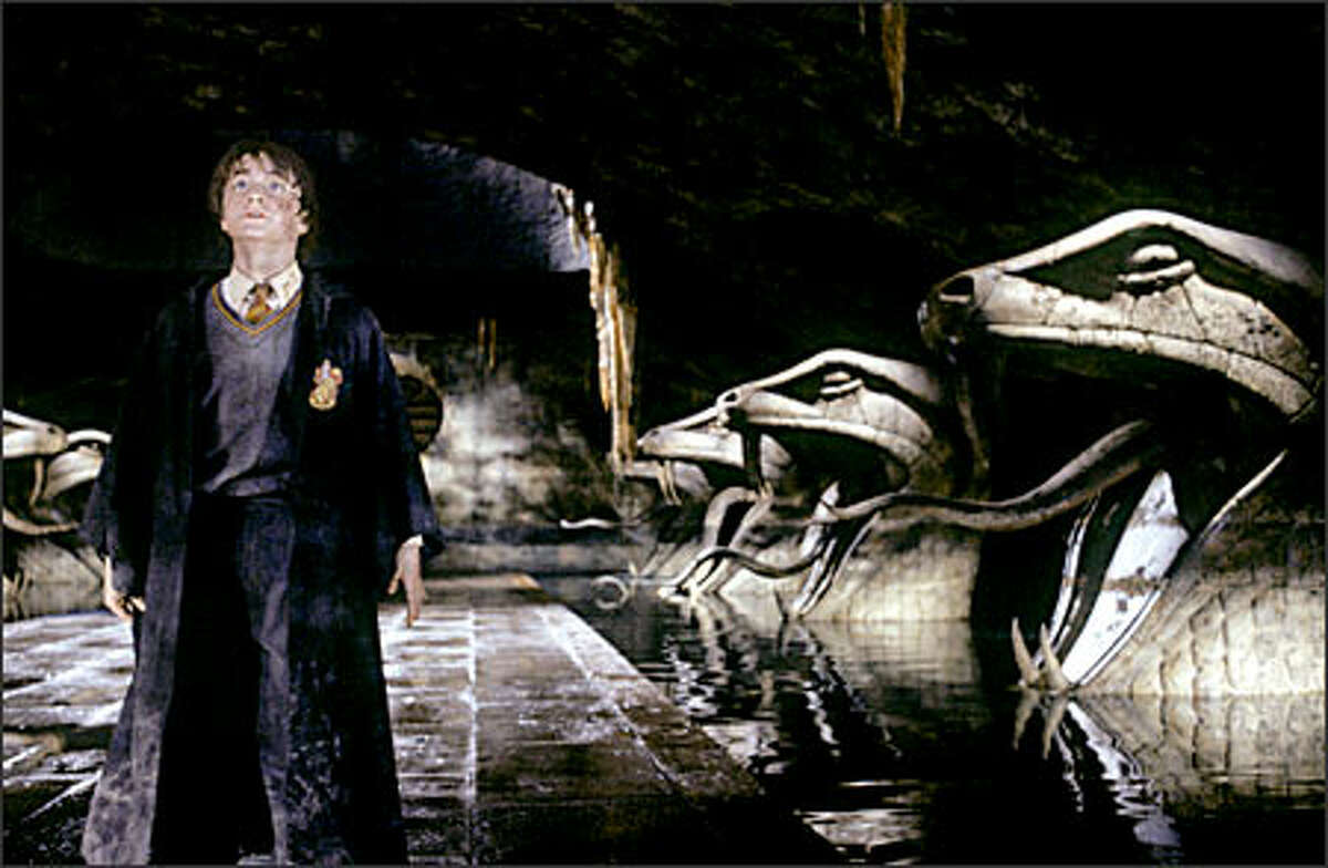 Harry Potter (Daniel Radcliffe) ventures into the Chamber of Secrets, hidden in the bowels of Hogwarts School of Witchcraft and Wizardry.