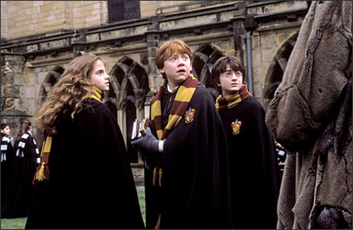 Still together, still friends -- despite the occasional tiff -- Hermione (Emma Watson), Ron (Rupert Grint) and Harry (Daniel Radcliffe).