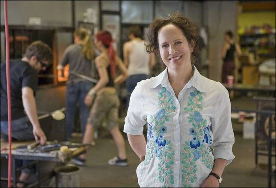 The founder of glassybaby, Lee Rhodes, shown in her Madrona studio, won this year's Nellie Cashman Award from the Women Business Owners of Seattle. Photo: Kate Baldwin