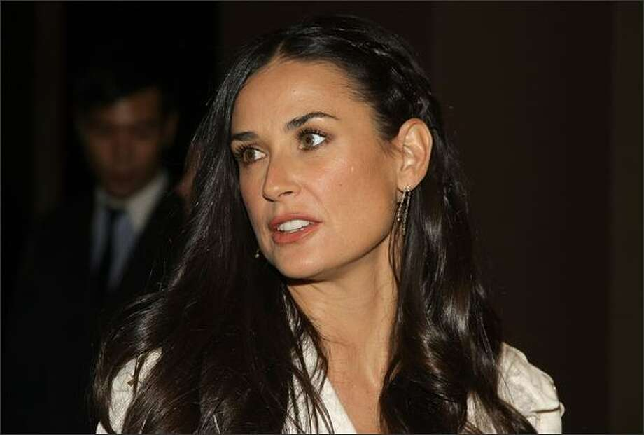 "Actress Demi Moore attends ""Flawless"" screening hosted by the Cinema Society at the Tribeca Grand Screening Room on March 24, 2008 in New York City. Photo: Getty Images"