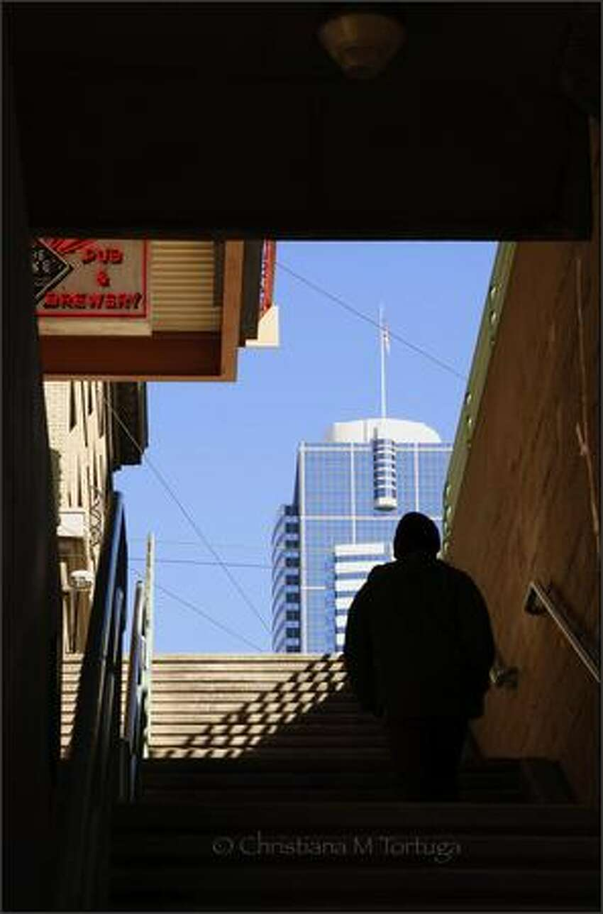 From Post Alley to Two Union, March 2006. Photo by Christiana Tortuga.
