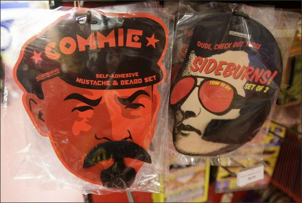 Phony facial hair for sale at Archie McPhee in the Ballard neighborhood of Seattle.